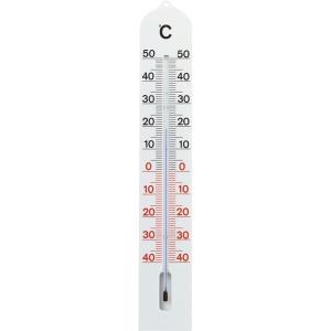 Buitenthermometer kunststof wit 41 cm