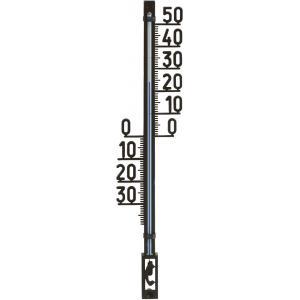 Buitenthermometer kunststof zwart 27.5 cm