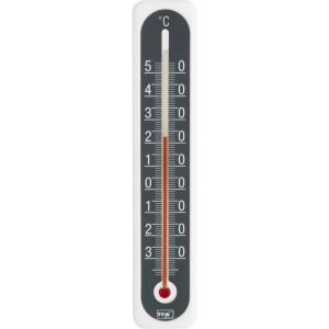 Buitenthermometer kunststof wit/antraciet 20 cm