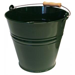 Zinken emmer 12 liter groen