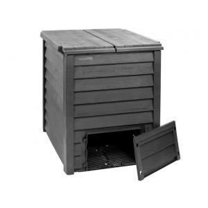 Garantia compostbak Thermo-Wood 600L bruin-zwart met beluchtingsplaat