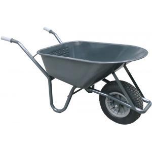 Metalen bouwkruiwagen 85 liter grijs