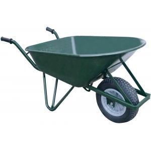 Metalen kruiwagen 120 liter ovaal groen