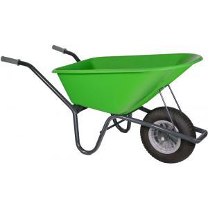 Kruiwagen gecoat 100 liter lime groen