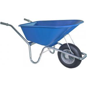 Kruiwagen verzinkt 100 liter blauw