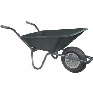 Kruiwagen basic grijs 80 liter groen