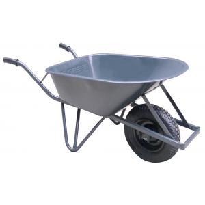 Bouwkruiwagen metaal met ovale buis 85 liter