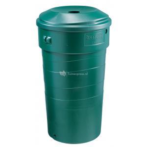 Stevige kunststof regenton 230 liter groen