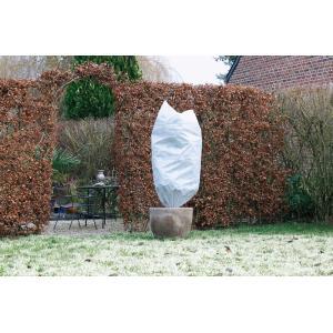 Winterafdekhoes met koord 50 g/m2 wit