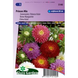Zomeraster Chinese Aster bloemzaden - Prinses Mix