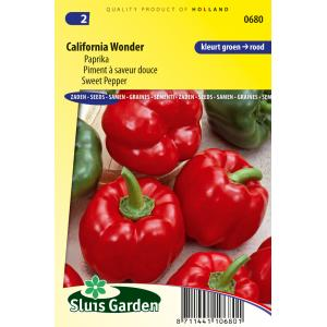 Paprika zaden - California Wonder