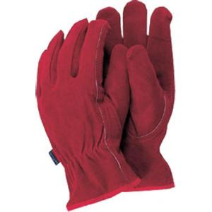 Premium leather werkhandschoenen rood